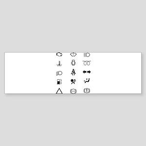 Vehicle Dash Warning Icons Bumper Sticker
