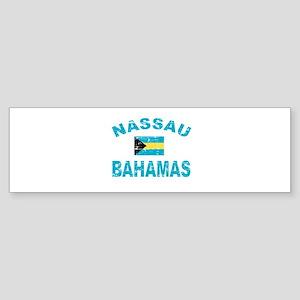 Nassau Bahamas designs Sticker (Bumper)