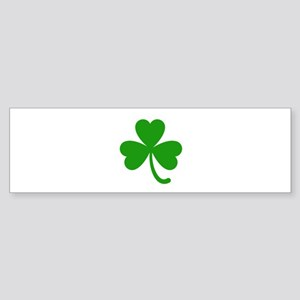 3 Leaf Kelly Green Shamrock with St Bumper Sticker