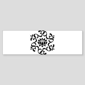 Buddhist Sacred Indian Lotus Flower Bumper Sticker