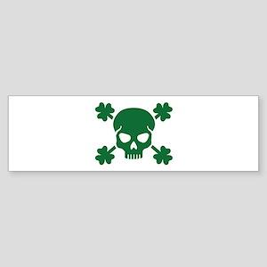Skull shamrocks Sticker (Bumper)