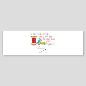 Quilt of Life Bumper Sticker