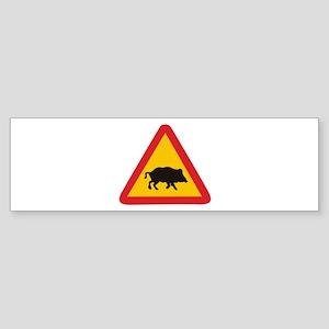 Traffic pig Bumper Sticker