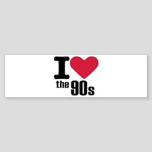 I love the 90's Sticker (Bumper)