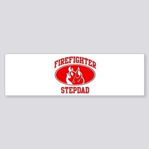 Firefighter STEPDAD (Flame) Bumper Sticker