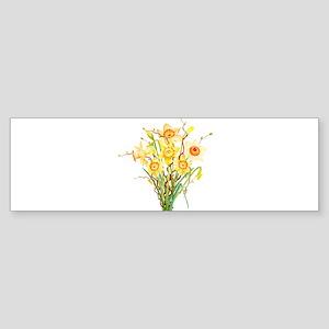 Watercolor Daffodils Spring Flowers Bumper Sticker