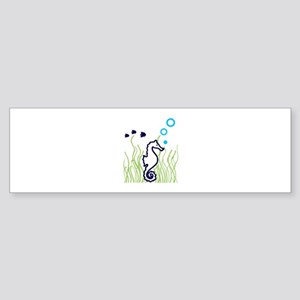 SEAHORSE BUBBLES APPLIQUE Bumper Sticker