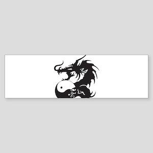 Yin Yang Dragon Sticker (Bumper)