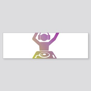 Colorful DJ Bumper Sticker