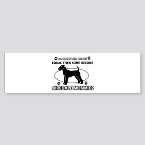 Funny Airdale dog mommy designs Sticker (Bumper)