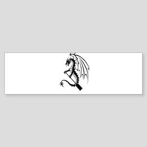 Dragon with paddle logo Bumper Sticker