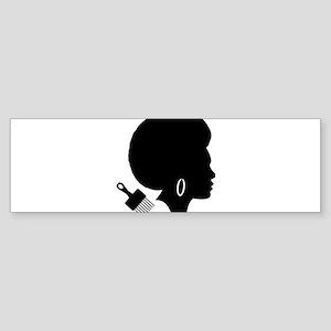 vintage black afro american woman Bumper Sticker