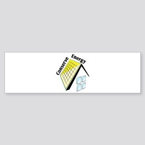 Conserve Energy Bumper Sticker