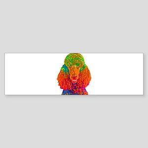 Psychadelic Poodle Bumper Sticker