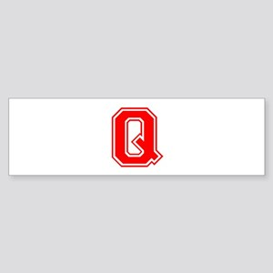 Q-var red Bumper Sticker