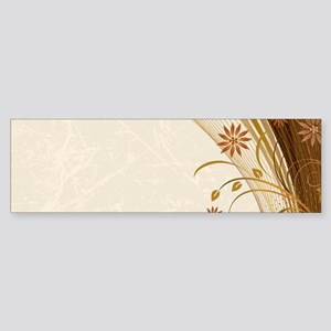 Elegant Floral Abstract Decorative Bumper Sticker