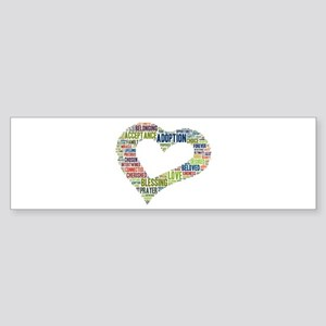 heart fulfilled Sticker (Bumper)
