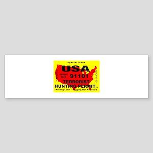 Terrorist Hunting Permit Sticker (Bumper)