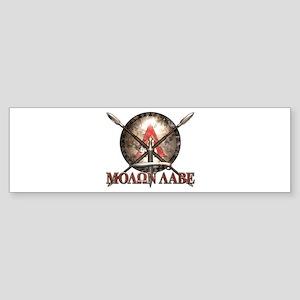 Molon Labe - Spartan Shield and Swords Bumper Stic