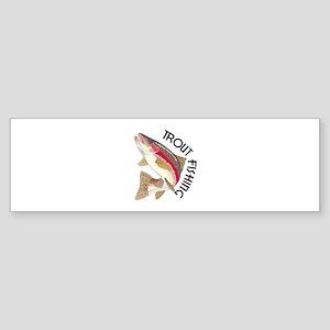 Trout Fishing Bumper Sticker