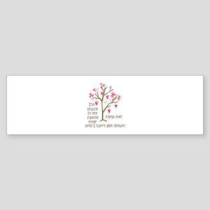 STUCK IN MY FAMILY TREE Bumper Sticker