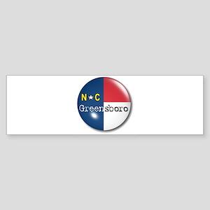 Greensboro North Carolina Flag Bumper Sticker