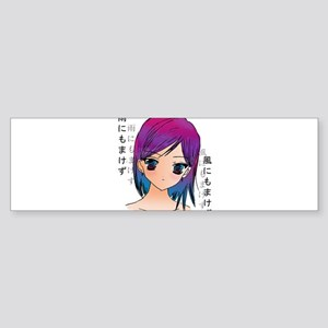 Anime girl Bumper Sticker