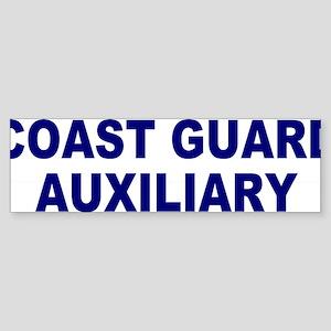 USCGAux-Text-Blue Sticker (Bumper)