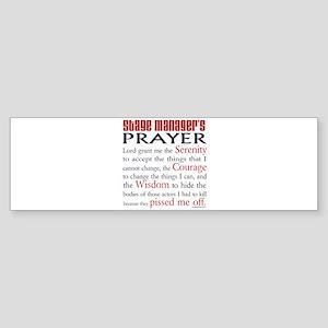 Stage Manager's Prayer Sticker (Bumper)