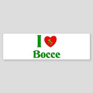 I Love Bocce Sticker (Bumper)