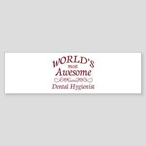 Awesome Dental Hygienist Sticker (Bumper)