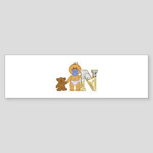 Baby Initials - N Bumper Sticker