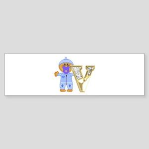 Baby Initials - V Bumper Sticker