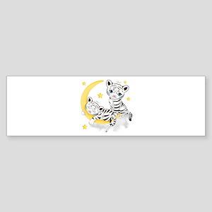 White Tigers - (bumper) Bumper Sticker