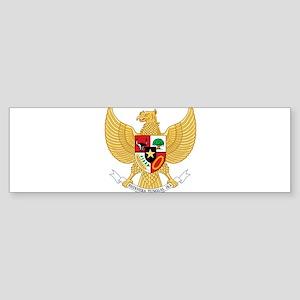 Indonesia Coat Of Arms Sticker (Bumper)