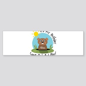 Allison birthday (groundhog) Bumper Sticker