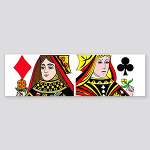 Real Women Play Poker Bumper Sticker