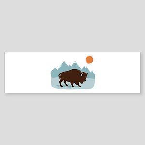 Buffalo Mountains Bumper Sticker