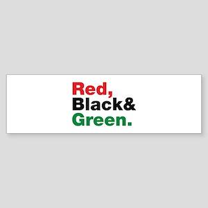 Red, Black and Green. Sticker (Bumper)