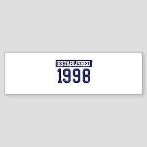 Established 1998 Bumper Sticker