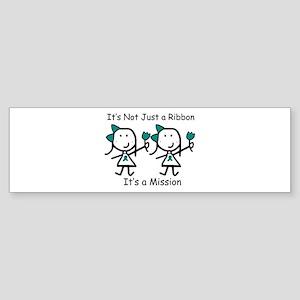 Teal Ribbon - Mission Sisters Bumper Sticker