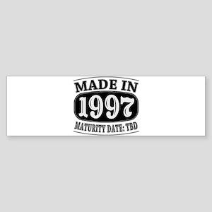 Made in 1997 - Maturity Date TDB Sticker (Bumper)