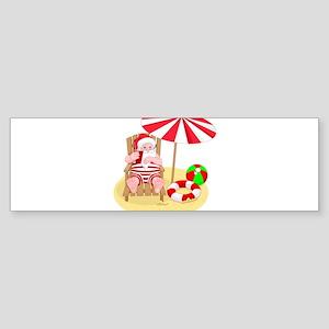 beach santa claus Bumper Sticker