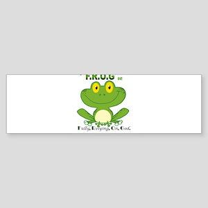 F.R.O.G. Fully, Relying,On,God Bumper Sticker