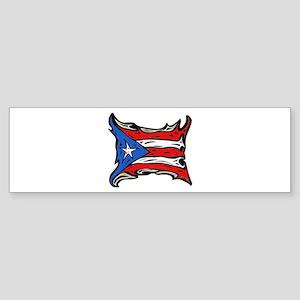 Puerto Rico Heat Flag Bumper Sticker