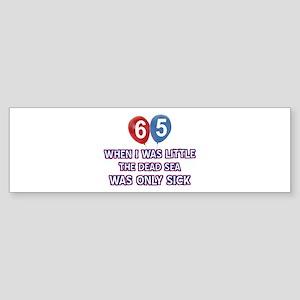 65 year old dead sea designs Sticker (Bumper)