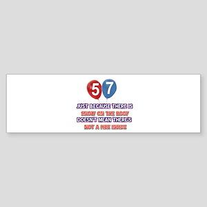 57 year old designs Sticker (Bumper)