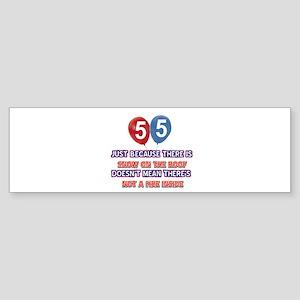 55 year old designs Sticker (Bumper)