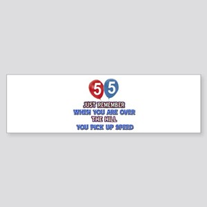 55 year old designs Sticker (Bumper)