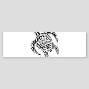 Black Hawaiian Turtle-2 Bumper Sticker